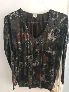 Wilfred Floral Long Sleeve Top XS
