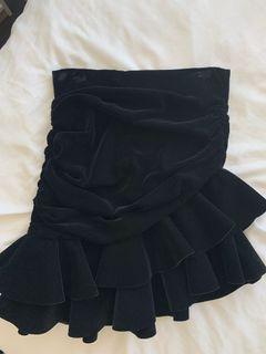 ZARA NWT velvet skirt, small