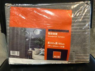 灰色阻音窗簾,耐用/現代/時尚/全新