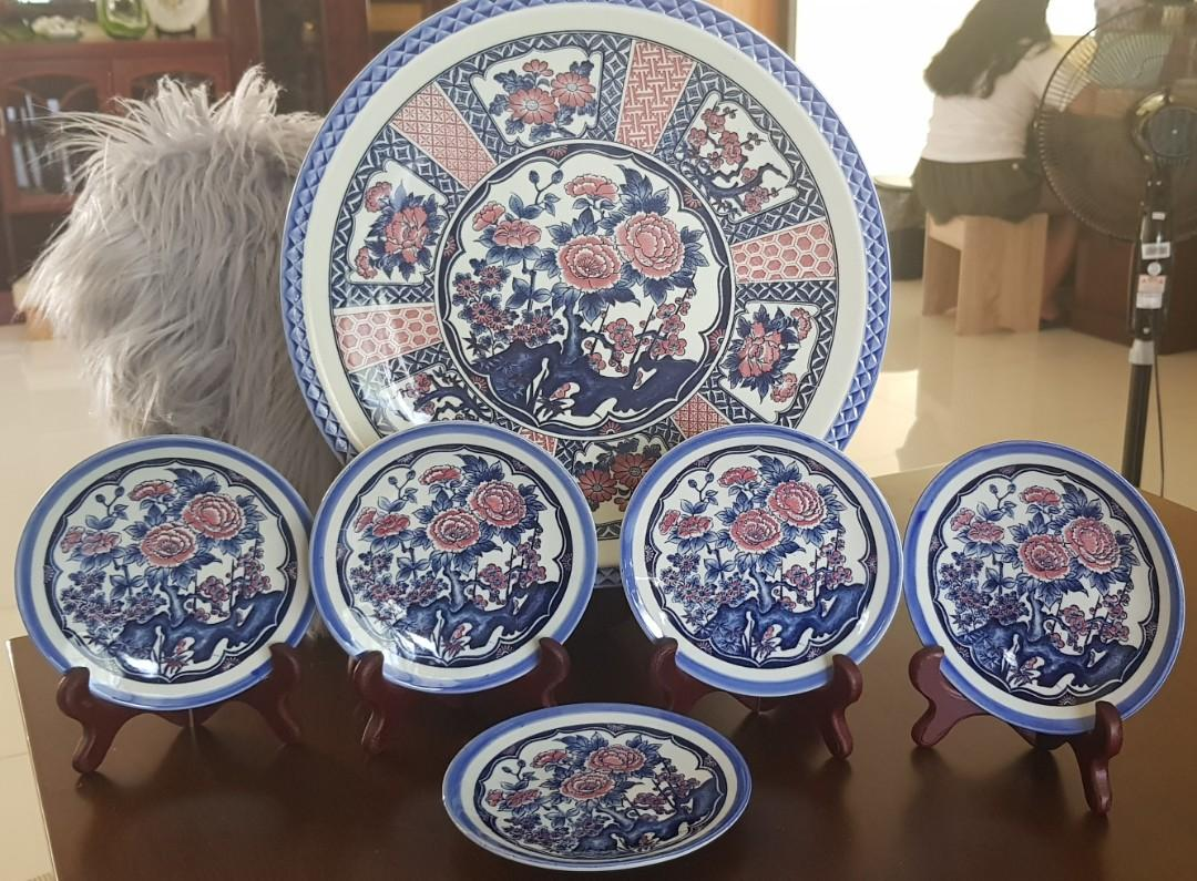 Blue White Set Decor Plate And Saucer Antiques Vintage Collectibles On Carousell
