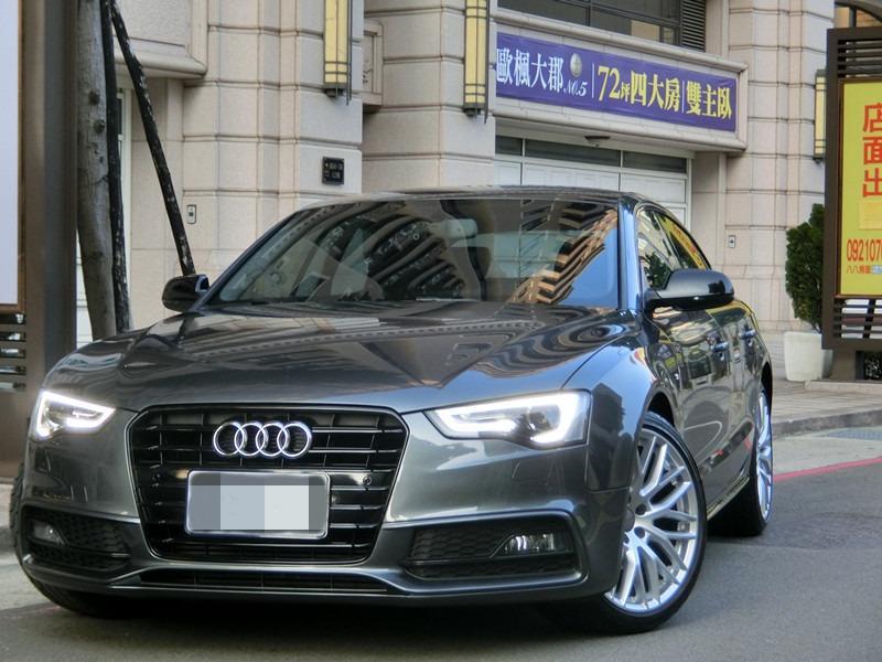 FB搜尋【世康中古車買賣】《熱門車款》2015年 奧迪 a5 sportback 灰1.8