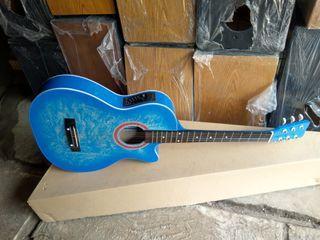Gitar Akustik Elektrik biru laut