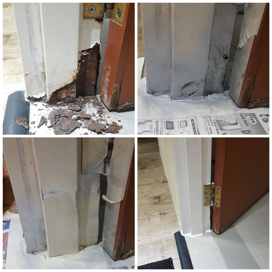 Hdb Door Frame Repair Services Home Services Renovations On Carousell