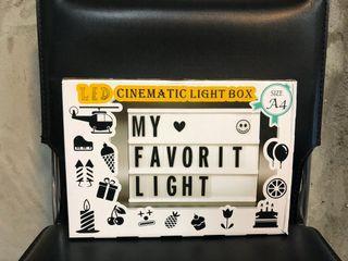 LED字母DIY拼字燈箱,創意/百搭/咖啡廳/實用/全新