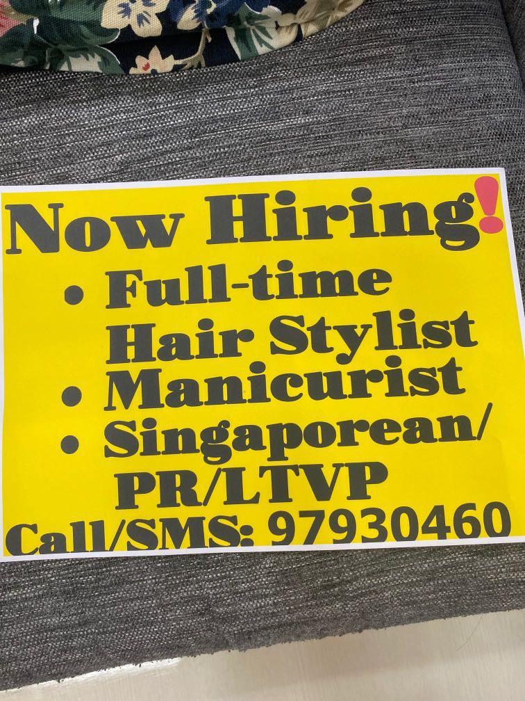 Manicurist & hairstylist needed