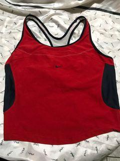 Nike dri-fit red women's racer back top