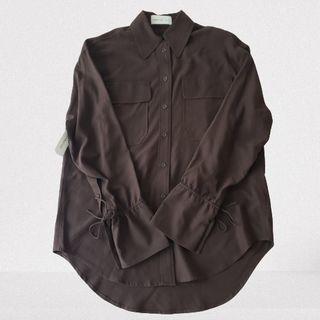 Small Aritzia Babaton 1-01 Johanson Silk Shirt