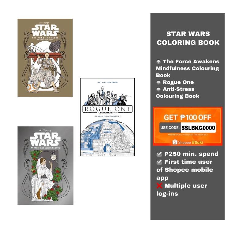 Star Wars Coloring Books, Books, Books On Carousell