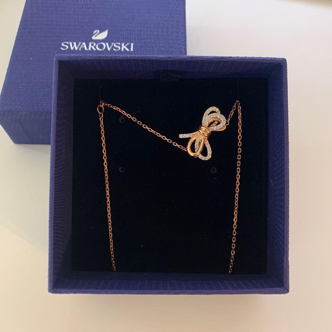 Swarovski Bow Necklace