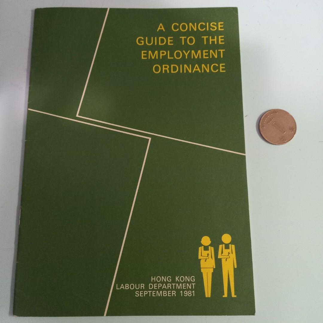 1981年。僱傭條例簡介。英文版。T1