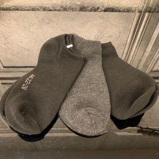 素色短襪三雙
