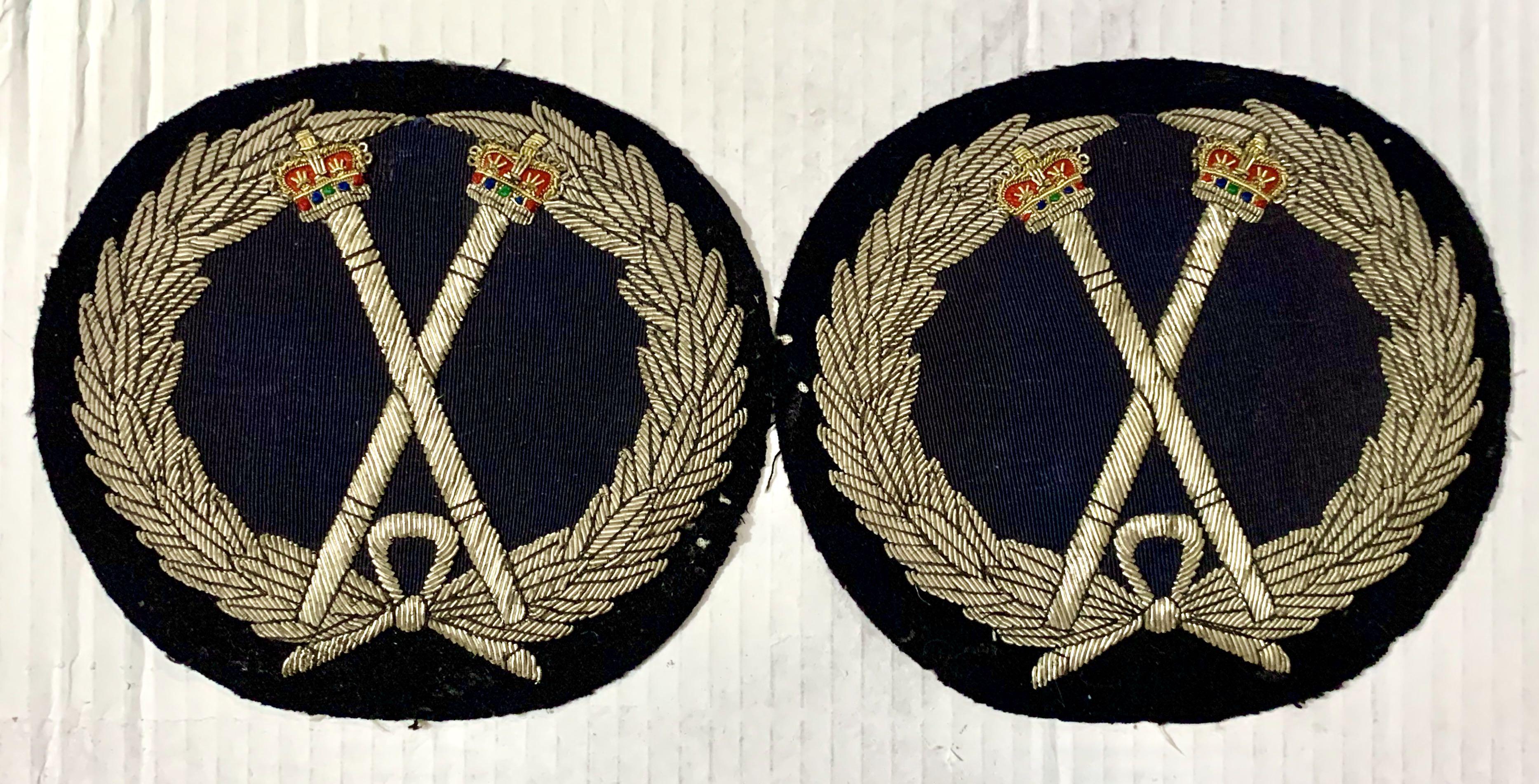 殖民時期警察禾花權杖大繡線章