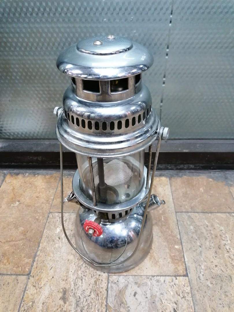 古董懷舊品 約70-80年代火水大光燈  大汽燈(燈內還留有一個白色發光燈罩)