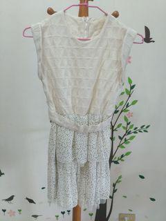 正韓 白色小禮服 伴娘裝 白色洋裝 婚禮 謝師宴