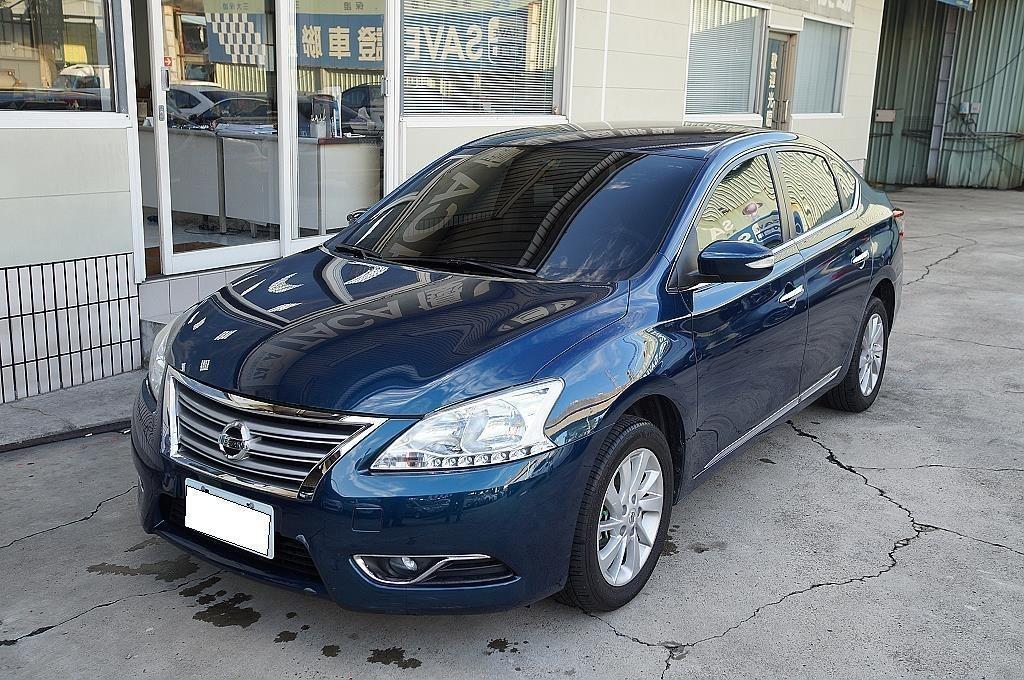 舜天車坊  Nissan Sentra 2014款 1.8L 定期原廠保養 多功能影⾳+免鑰匙 稀有藍⾊ 保證實⾞實價