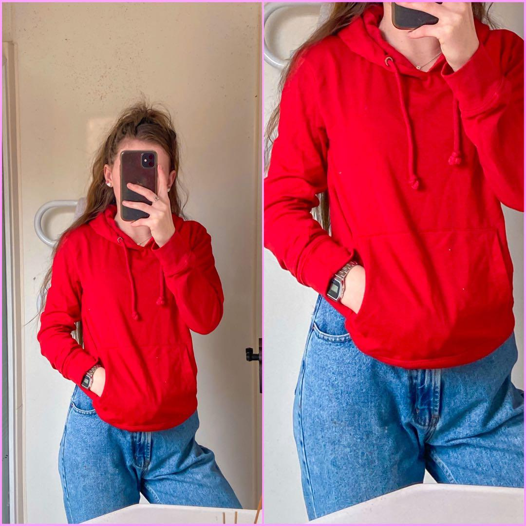*BARELY WORN RED HOODIE!!!*
