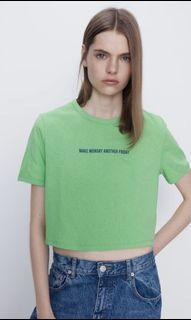 BNWT Zara slogan shirt