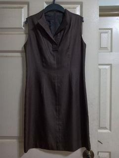 Brown tailored dress