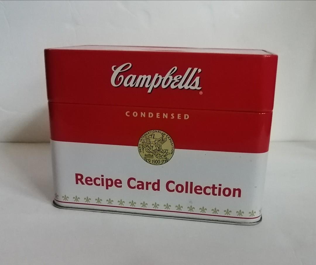Campbells tin recipe card collection
