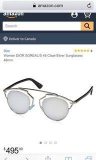 Dior Soreal Sunglasses in Clear/Silver