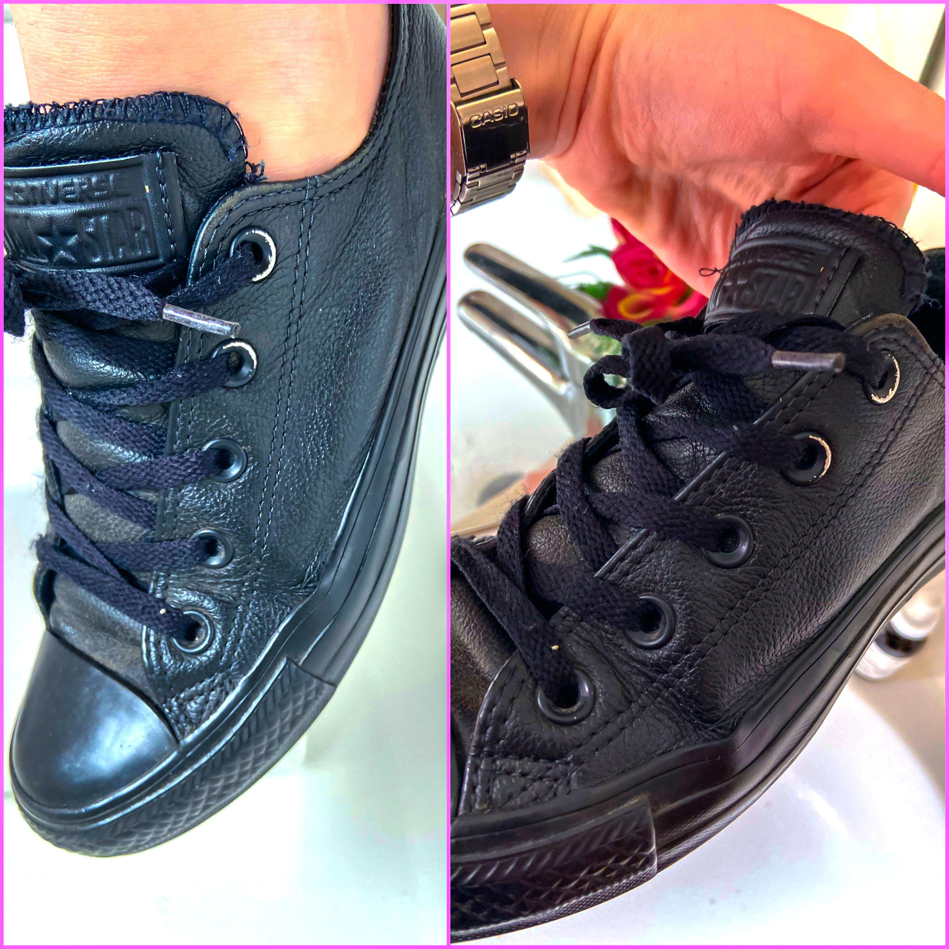 *LEATHER CONVERSE!!!*