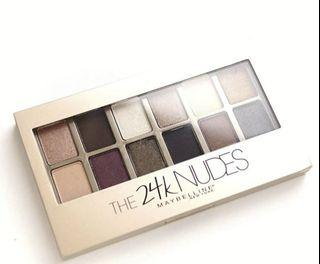 Maybelline 眼影盤 The 24K NUDES