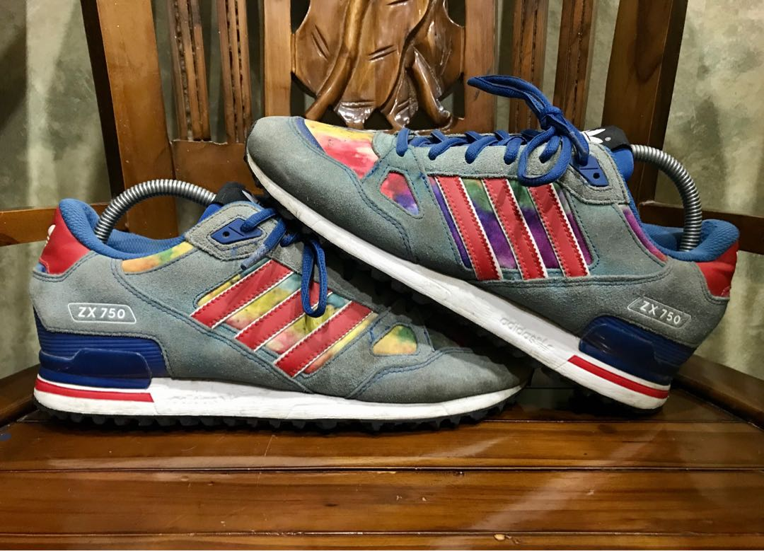 tolerancia Aparador Representación  Original Adidas ZX750 Clover Limited Rainbo Colourway 9UK, Men's Fashion,  Footwear, Sneakers on Carousell