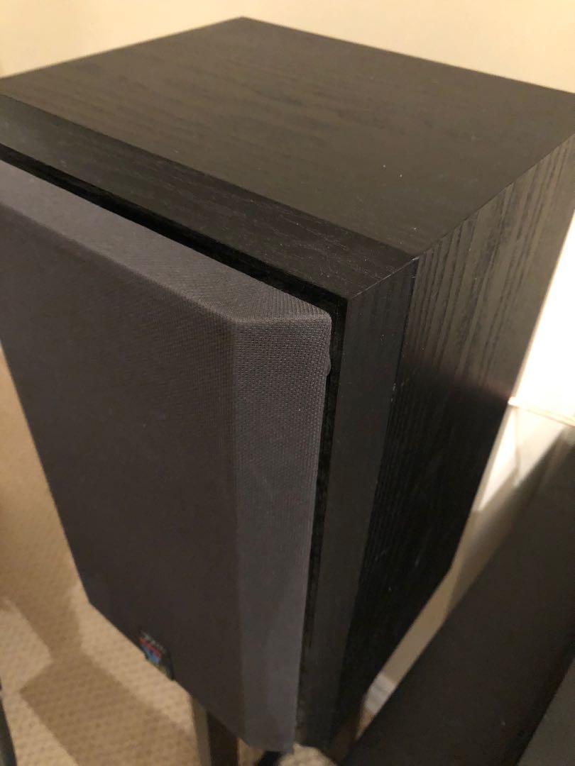 Set of 2 B&W (Bowers & Wilkins) V201 Speakers + Floor Stands