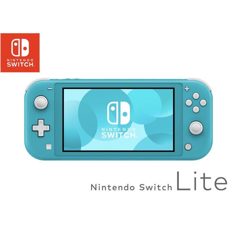 售/二手switch lite 主機/附收納包/藍綠色