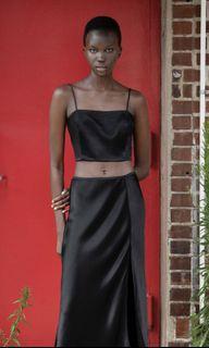 BNWT Zara satin crop top