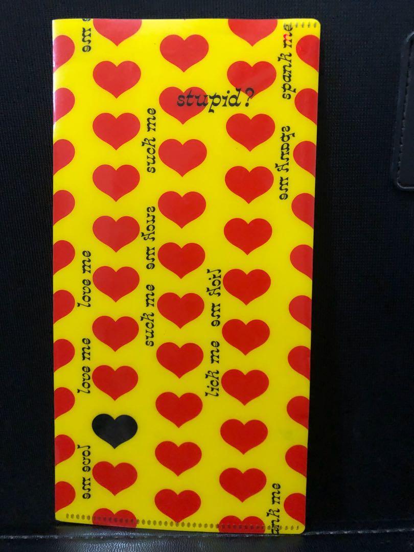 訂 hide yellow heart 演唱會飛file 口罩套