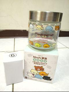 全新 7-11 Mochi家族 悠閒生活 立體 珪藻土 防潮 公仔 玻璃罐組 收納罐 企鵝  550ml