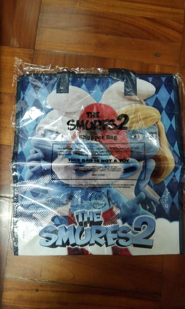 藍精靈尼龍袋 (The smurfs 2) 全新