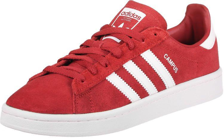Adidas Campus Sneakers (Red), Women's