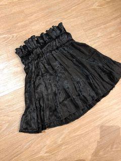 Black elastic high waist skirt with inner pants