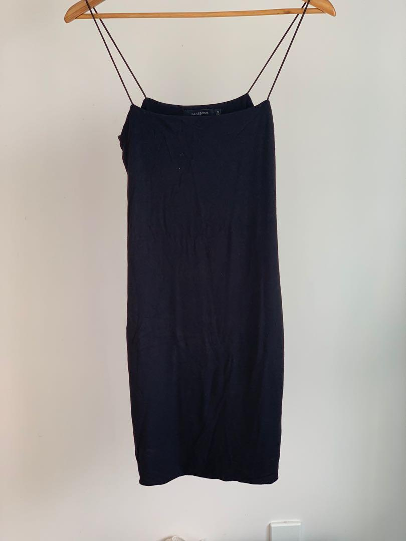 Black glassons mini dress
