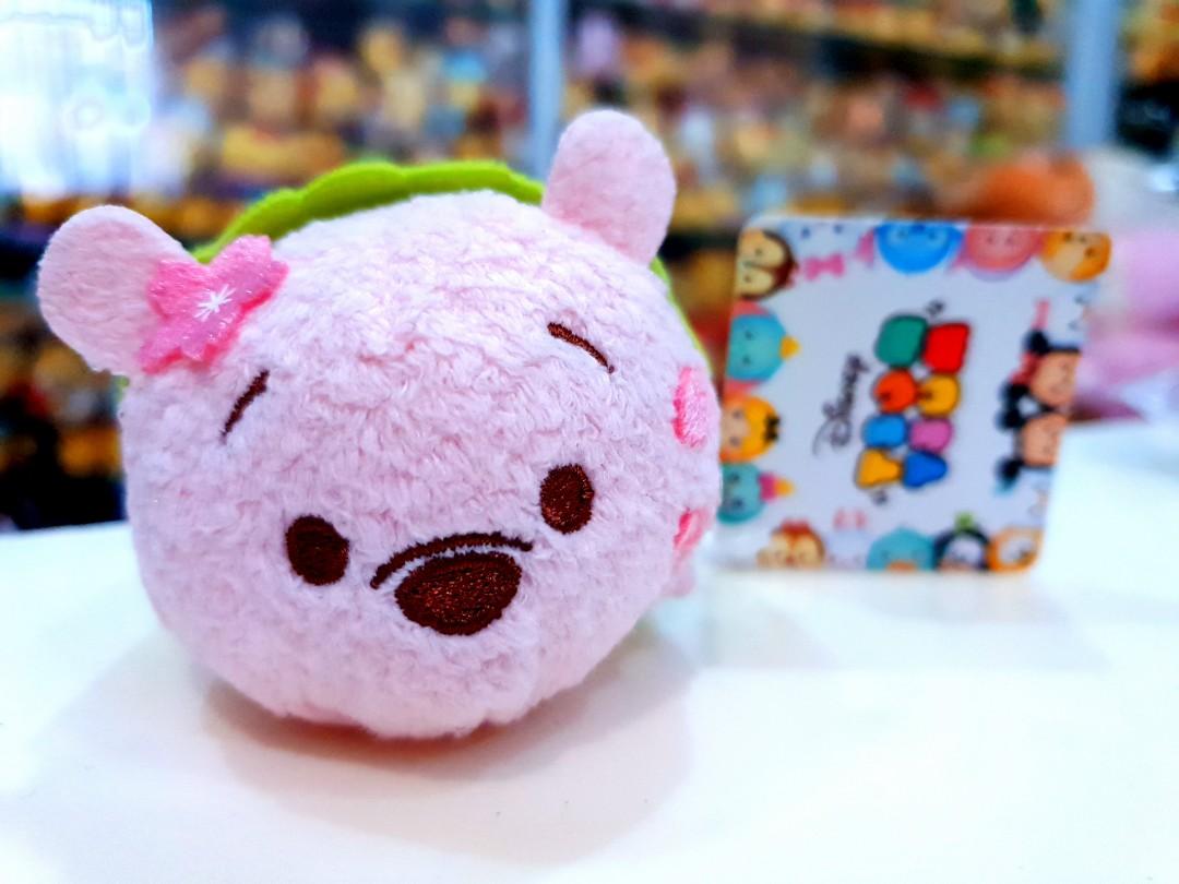 New Winnie the Pooh Piglet Cherry Blossom Soft Tsum Tsum plush Toy Doll Gift