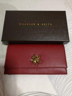 BNIB Charles & Keith Long Wallet with chain