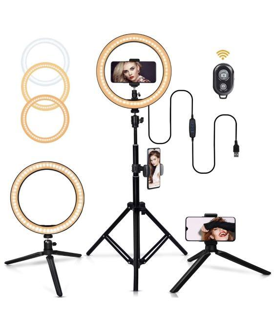 """Brand New 8"""" Ring Light Complete Set with Light Stand and other accessories"""
