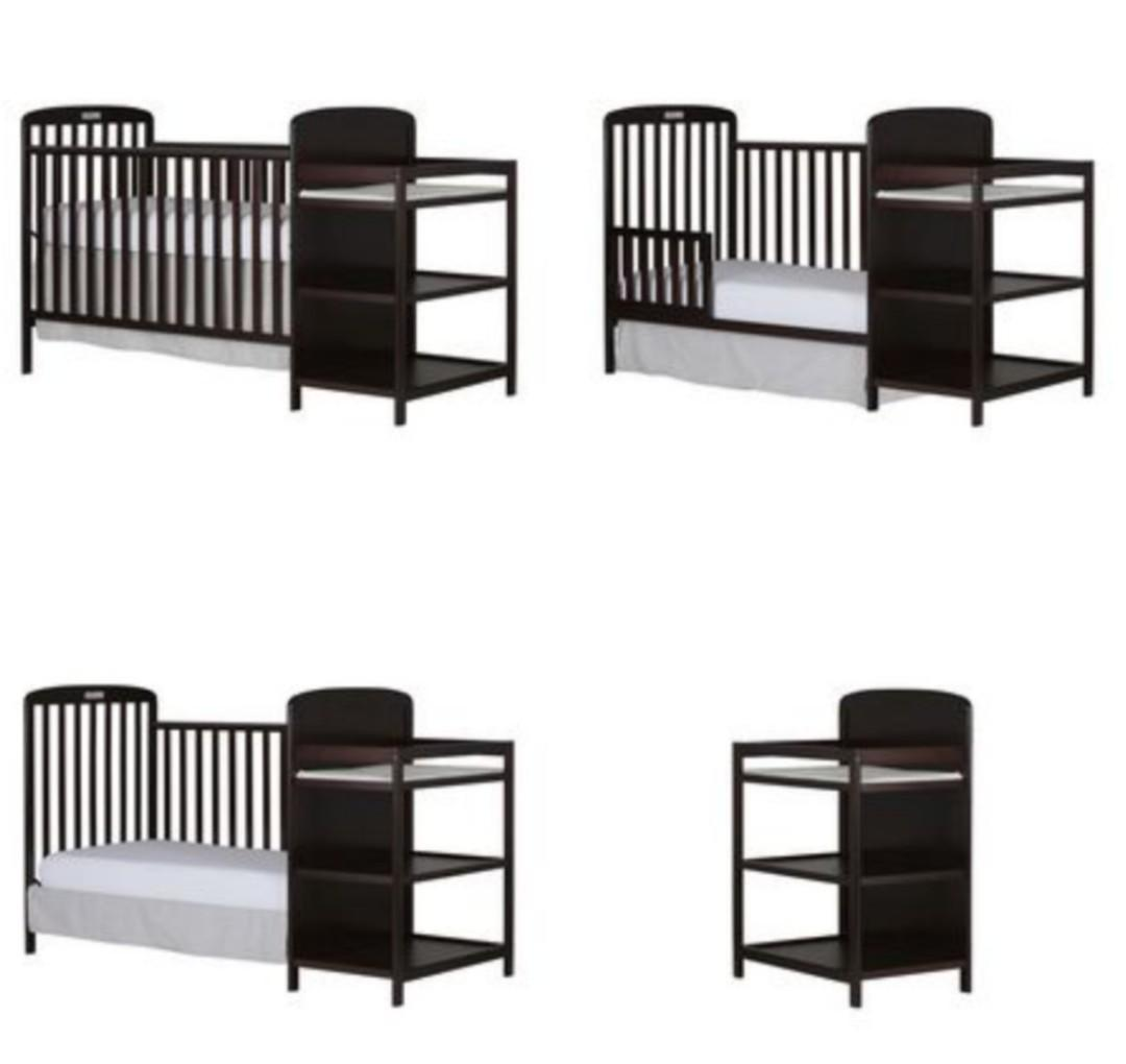 Brand New Dream On Me 4-in-1 Crib and Changing Table Combo
