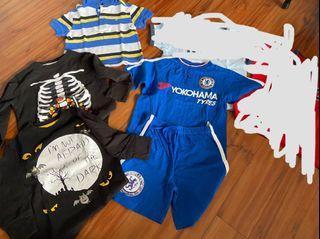 Bundle of branded shirts