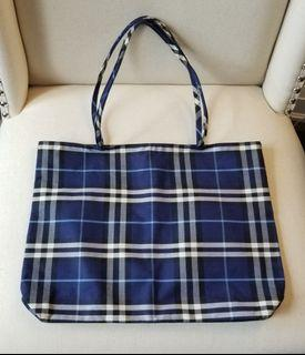 BURBERRY Fabric Check Tote Bags