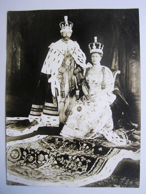 Great Britain - 1911年大英帝國英皇佐治五世(H.M. King George V)及瑪莉皇后(Queen Mary)登基(Coronation)官方照片(報社存檔照,保真)