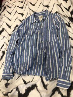 Forever 21 - striped long sleeve plaid