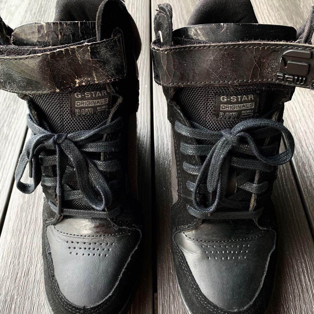 Leather Heels Sneaker Boots (Ladies