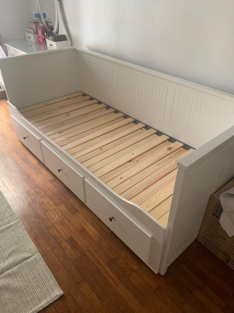 Ikea Bed Frame Hemnes Furniture Beds Mattresses On Carousell