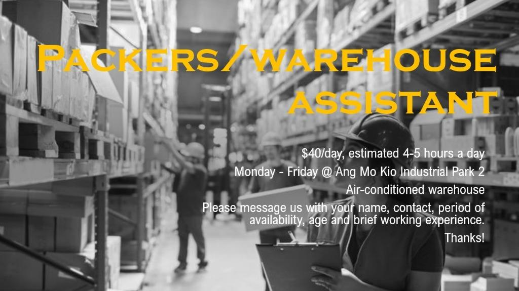 Packer/Warehouse Assistant