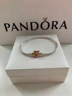 Pandora Rose Gold Heart Bracelet