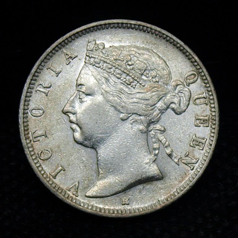 PCGS評級 1890年H 香港 維多利亞女皇 貳毫 Hong Kong Victoria 20 Cents