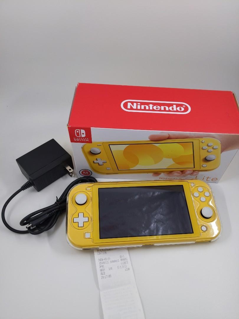 Switch Lite 黃色 付保護殼 保護貼